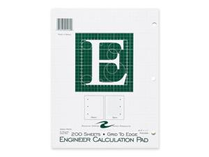 """Roaring Spring 95589 Engineering Pad 200 Sheets Letter 8.50"""" x 11"""" - 1Each - Green Paper"""