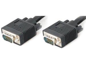 AddOn VGAMM15-5PK Black 15ft 15-pin HD-15 VGA High Resolution Monitor Cable M-M x 5