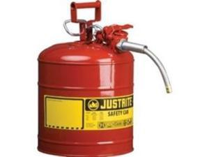 Justrite Accuflow 7220120 Type Ii Galvanized Steel Safety Can, 2 Gallons Capa...