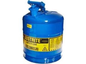 Justrite 7150300 Type I Galvanized Steel Safety Can, 5 Gallons Capacity, Blue