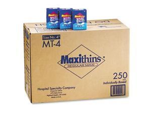 Hospeco Maxithins Thin Full Protection Pads 250 Individually Boxed Napkins