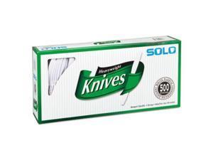 Solo Plastic Knife White 500ct (SCC 827271)