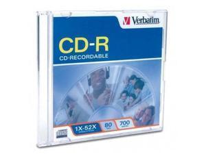 Verbatim 700MB 52X CD-R Single Disc Model 94776