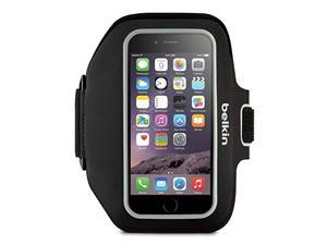 Belkin Sport-Fit Plus Carrying Case (Armband) for iPhone - Blacktop, Overcast - Scratch Resistant - Neoprene - Armband