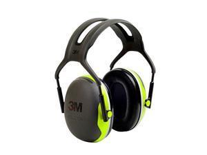 3M PELTOR X4 Earmuffs, 27 dB NRR, Fluorescent Yellow-Green X4A