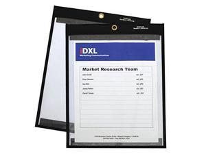 """C-Line Magnetic Stitched Shop Ticket Holders, Clear, 75"""", 9 X 12, 25/Box 85912"""