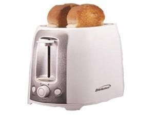 Brentwood  TS-292W  White and Stainless Steel  2 Slice Cool Touch Toaster