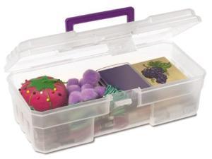 Akro-Mils AKM09912CLPUR Supply Box- 6in.x12in.x4in.- Plastic- Clear-Purple