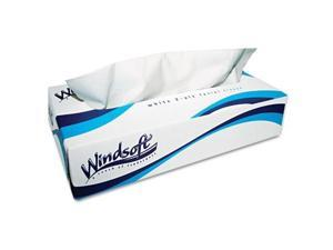 Windsoft 2430 Facial Tissue in Pop-Up Box- 100/Box- 6 Boxes/Pack