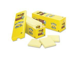 Post-it Canary Yellow Note Pads 3 x 3 90-Sheet 24/Pack 65424SSCP