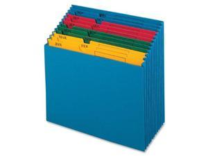 Globe-Weis 20135 QuickVue Project Files, Jan-Dec, Monthly, 12 Pockets, Letter Size, Blue