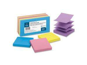 """Business Source Pop-up Adhesive Note Pads 3""""x3"""" 100 Sh 12/PK AST Extreme 16450"""
