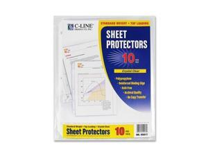 C-Line Products, Inc. Sheet Protectors, Poly, Top Loading, 8-1/2x11, 10/PK, CL