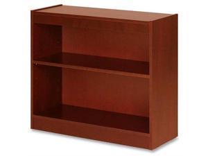 "Lorell 2 Shelf Panel Bookcase 36""x12""x30"" Cherry 89050"
