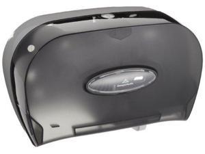 "Two-Roll Bathroom Tissue Dispenser, 13.56"" x 5.75"" x 8.63"", Smoke 592-06"