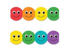 "Classroom Diecut Borders 3""X36"" 12/Pkg-Smiley Face Assorted Colors"
