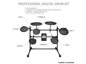 PylePro PED021M Electrical Drum Kit with Recorder Feature 7 Pad Drum Kit