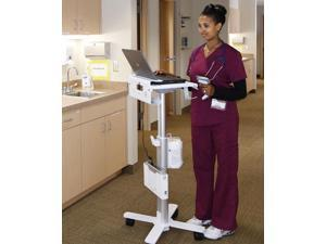 Ergotron - SV10-1100-0 - Ergotron StyleView Laptop Cart, SV10 - 32 lb Capacity - 4 Casters - 2.95 Caster Size - Metal,
