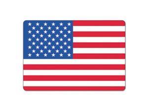 LabelMaster USA25V Warehouse Self-Adhesive Label, 4 1/2 X 3, Usa Flag, 100/Pack
