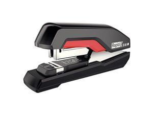 Rapid Supreme S50 SuperFlatClinch Half Strip Stapler 50-Sheet Capacity Black/Red