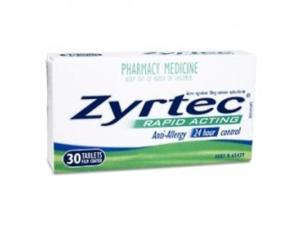 Zyrtec Allergy, 24 Hour 10 mg, Tablets  30 ea.