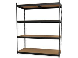 "Lorell Archival Shelving - 80 x Box - 4 Compartment(s) - 84"" Height x 69"" Width x 33"" Depth - Recycled - Black - Steel,"