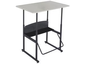 "Safco Alphabetter Adj Stand-Up Desk 36""x24""x42"" Black 1206BE"