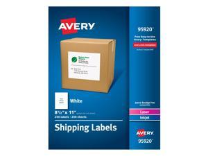 Avery-Dennison Ave95920 8.5 X 11 In. Shipping Label, White, Box Of 250