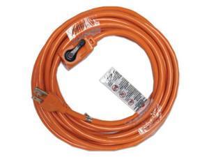 Indoor Extension Cord, Locking Plug, 25ft, Orange 72325