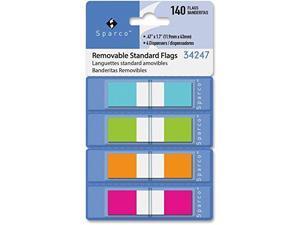 """Sparco Pop-Up Page Flags Small 1/2"""" 140fg/PK AST 34247"""