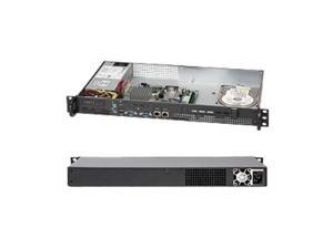 Supermicro Superchassis 503l-200b Rackmount Enclosure - Rack-mountable - Black - 1u - 1 X Bay - 1 X 200 W - Micro Atx Motherboard Supported (106286)