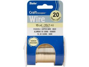 Darice P32029-4 Beading Wire 20 Gauge 15yd/Pkg-Gold Colored Copper Wire