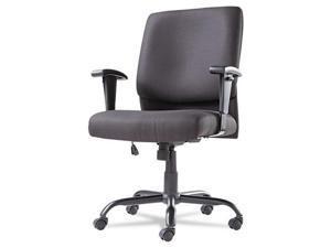 OIF BT4510 Big & Tall Swivel/Tilt Mid-Back Chair - Black