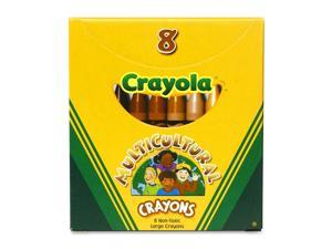 Crayola Large Multicultural Crayon  Assorted Ink - 8 / Box