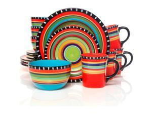 Gibson Elite 91267.16 Pueblo Springs Dinnerware, 16 Piece