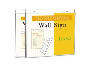 "Universal Wall Mount Sign Holder 11"" x 8 1/2"" Clear 76883"