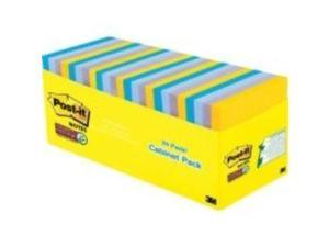 3M 65424SSNYCP Post-it Notes Super Sticky Pads in New York Colors Notes, 3 x 3, 70-Sheet, 24/Pack