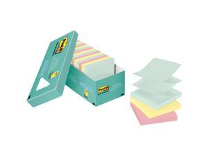 3M R33018APCP Post-it Pop-up Notes Original Pop-up Refill, Marseille Collection, 18 / Pack