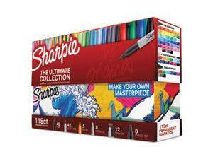Sharpie 1983255 Permanent Markers Ultimate Collection, Assorted Tips and Colors, 115 Count