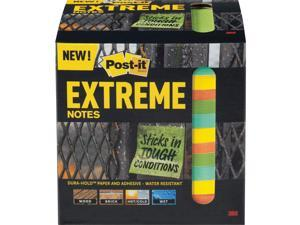 Post-it XTRM3312TRYX 3 in. x 3 in., Orange, Green, Yellow, Mint, 12 Pads/Pack, 45 Sheets/Pad