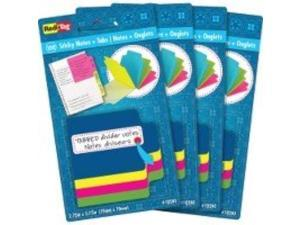 "Redi-tag Sticky Notes with Tabs 4""Wx4""Lx2""H 4/PK Multi 10247"