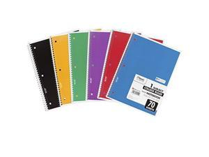 """Mead Spiral Notebook College Rule 10 1/2"""" x 8"""" 70 Pages 6 Books/Pack 73065"""