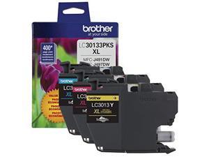 Brother LC30133PKS High Yield Ink Cartridge - Combo Pack - Cyan/Magenta/Yellow