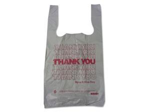 Barnes Paper Company Thank You High-Density Shopping Bags 10w x 5d x 19h White