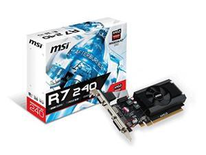 MSI R7 240 2GD3 LP Radeon R7 240 Graphic Card - 730 MHz Core - 780 MHz Boost Clock - 2 GB DDR3 SDRAM - Low-profile