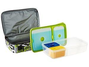 Fit & Fresh 841JL409 Bento Lunch Box Set with Insulated Carry Bag - Surf Sketch