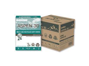 Boise ASPEN 30 (054901JR) Multi-use Recycled Copy Paper, 5 Ream Case (2,500 Sheets)