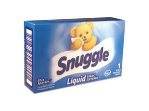 Snuggle VEN 2979996 Blue Sparkle HE Liquid Fabric Softener, Original, 1 Load Vend-Box, 100 / Carton