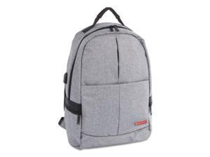 """Swiss Mobility Gray Notebook Case Sterling Slim Business Backpack, Holds Laptops 15.6"""" Model BKP1066SMGRY"""