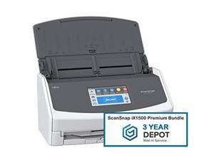 Fujitsu ScanSnap iX1500 CG01000-294601 Premium Bundle Scanner With 3-Year Depot Warranty